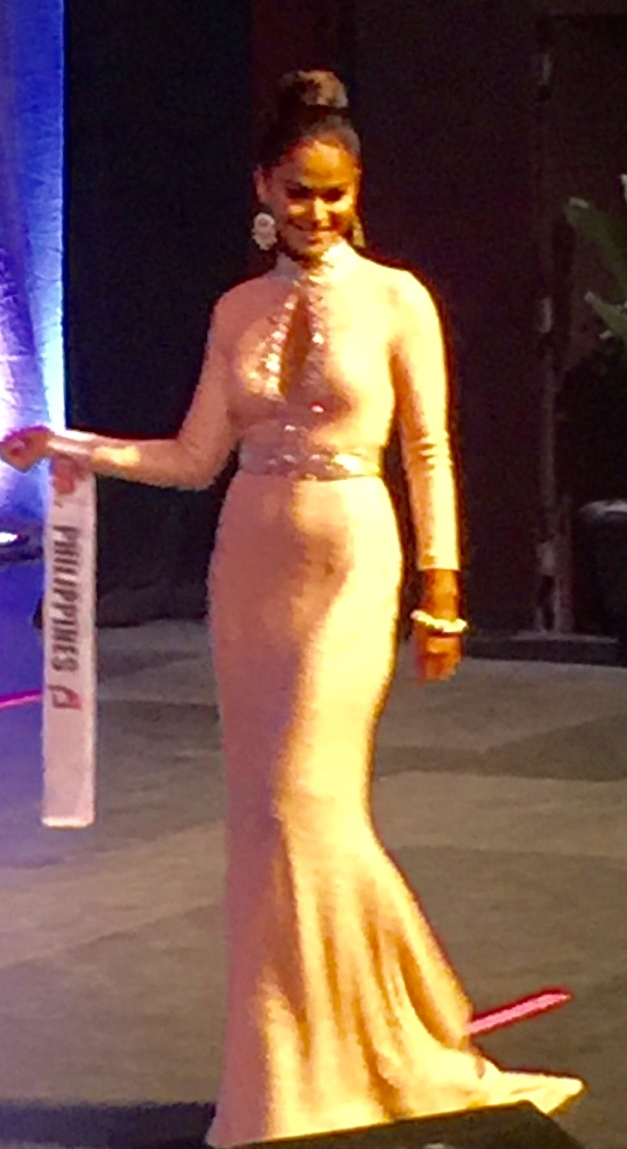 Ann Colis in Evening Gown