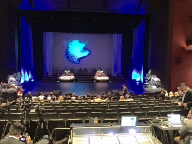 The finals stage of Miss Globe 2015 at Rose Theater Brampton