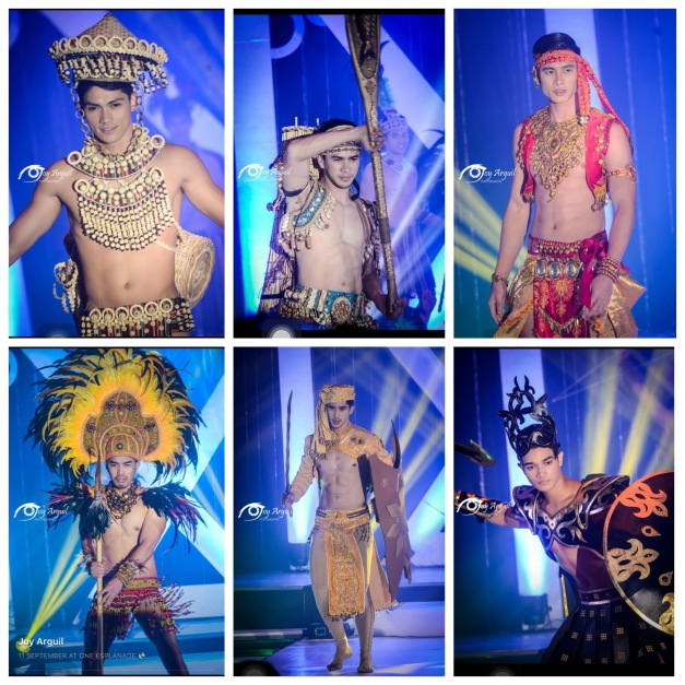 The Misters 2015 Winners during the Pre-Pageant Ethnic Costume Competition (Photo credit: Joy Arguil)