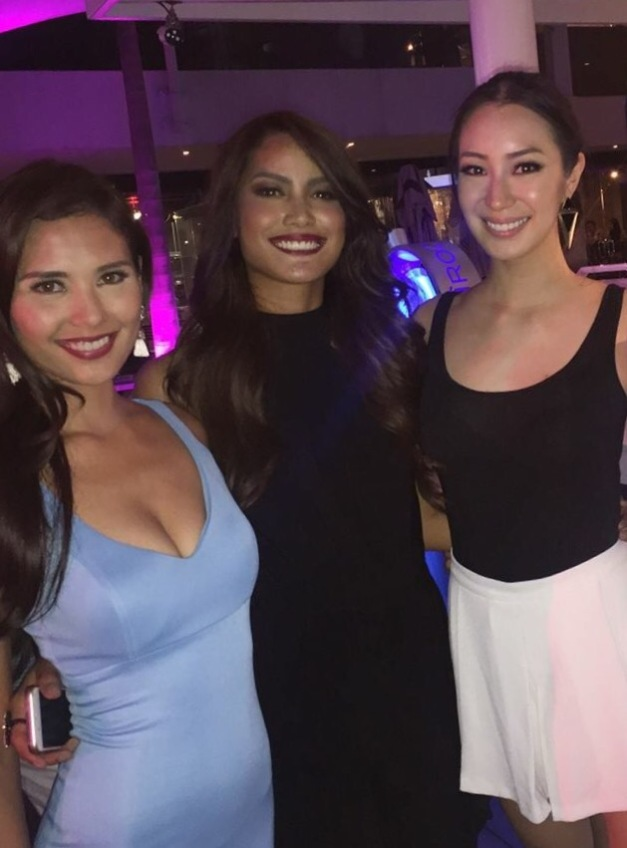 Honorees Miss World Philippines 2015 Hillarie Danielle Parungao, Miss Globe 2015 Ann Colis and Miss World Philippines 2015 1st Princess Cassandra Naidas (Photo credit: Jonas Gaffud)