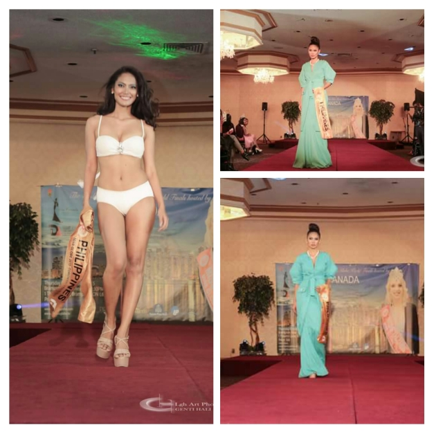 Miss Philippines Ann Lorraine Colis during the Swimsuit and Evening Gown Preliminaries of Miss Globe 2015