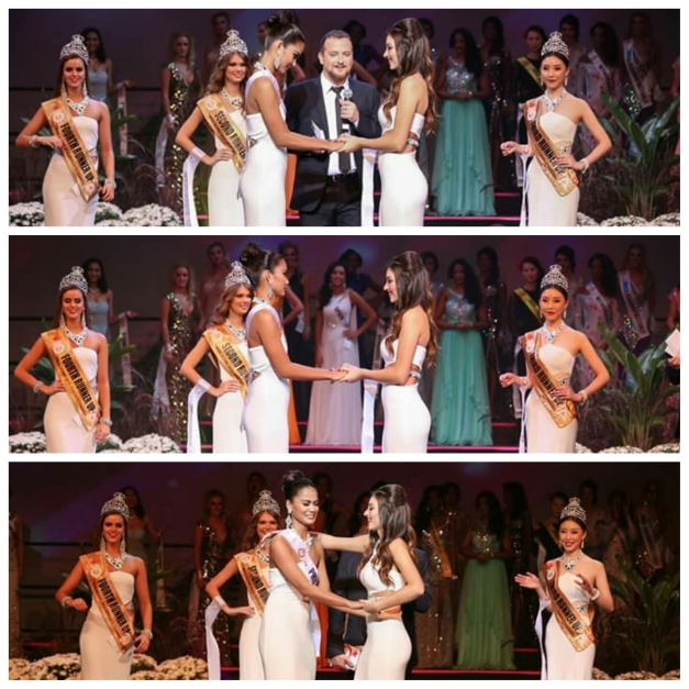 Last two women standing that led to the announcement of Ann Colis as Miss Globe 2015