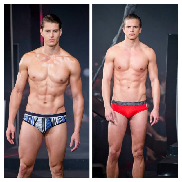 International male Supermodels Eian Scully (left) and River Viiperi (Photo credit: Bruce Casanova)