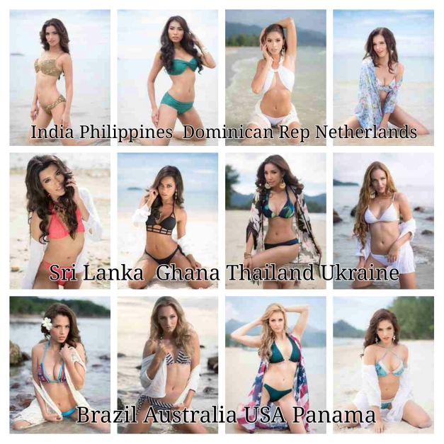 The twelve girls on my shortlist for Miss Grand International 2015