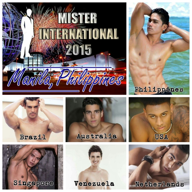 Host delegate Reniel Villareal (topmost, right) will start welcoming the Mister International candidates come mid-November