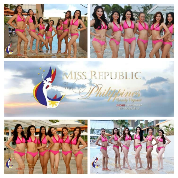 Some of the Miss Republic of the Philippines 2015 Official Candidates during their swimsuit photoshoot at Solaire Resort and Casino (Photo credit: Jhosh Rodriguez)