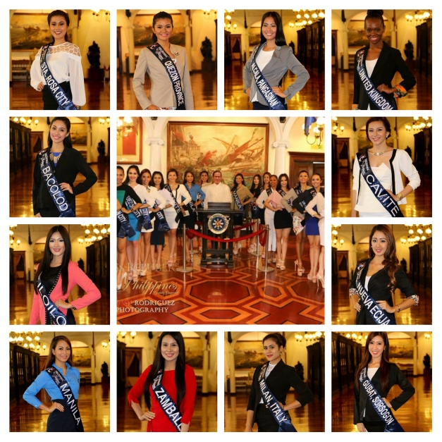Some of the Miss Republic of the Philippines 2015 Official Candidates during their visit to Malacañan Palace (Photo credit: Jhosh Rodriguez)