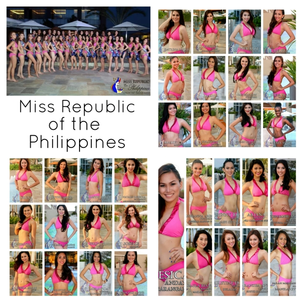 Above is a photo grid of the Miss Republic of the Philippines 2015 Official Candidates (Photo credit: Jhosh Rodriguez)