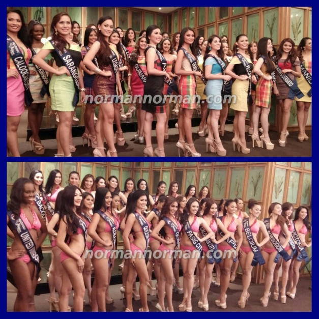 The thirty-five Official Candidates of Miss Republic of the Philippines 2015 were presented to the media in their Swimsuits and Hablon-made cocktail wears.