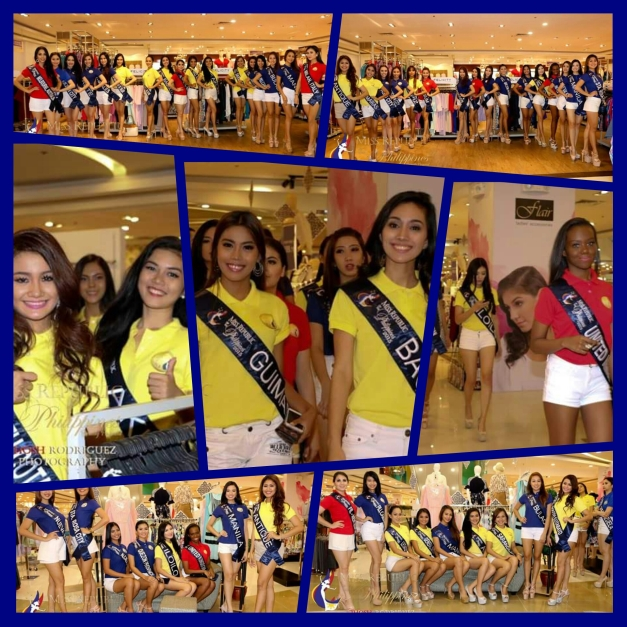 The Miss Republic of the Philippines 2015 Official Candidates checked out Fisher Department Store (Photo credit: Jhosh Rodriguez)