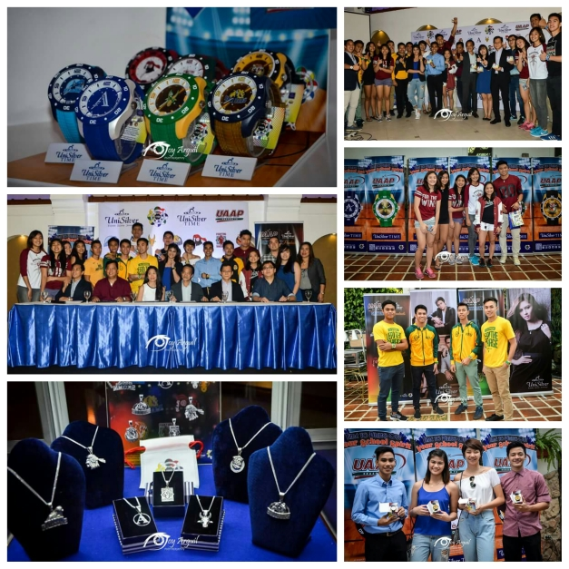 Perfect Christmas gifts: UniSilver Time and Jewelry partnered with UAAP to come up with the most university-unique watches and pendants (Photo credit: Joy Arguil)