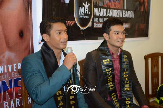 Mark (left) and Alexis answering questions from the Press (Photo credit: Joy Arguil)