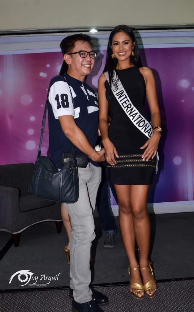 Bb. Pilipinas International 2015 Janicel Lubina and your blogger (Photo credit: Joy Arguil)