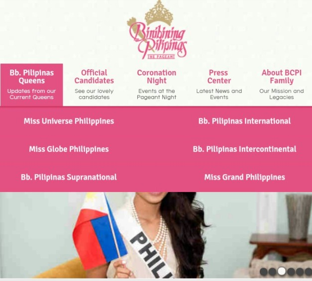A new look and feel for the Bb. Pilipinas website