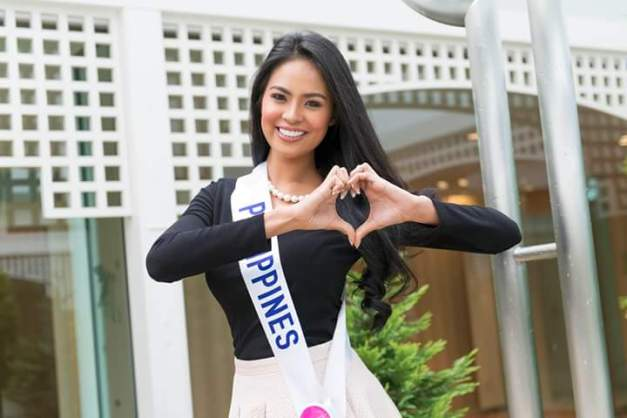 Miss Philippines Janicel Lubina strikes a pose for Panasonic Beauty Japan