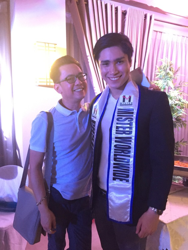 Mister Worldwide Philippines 2015 Jolo Dayrit and I