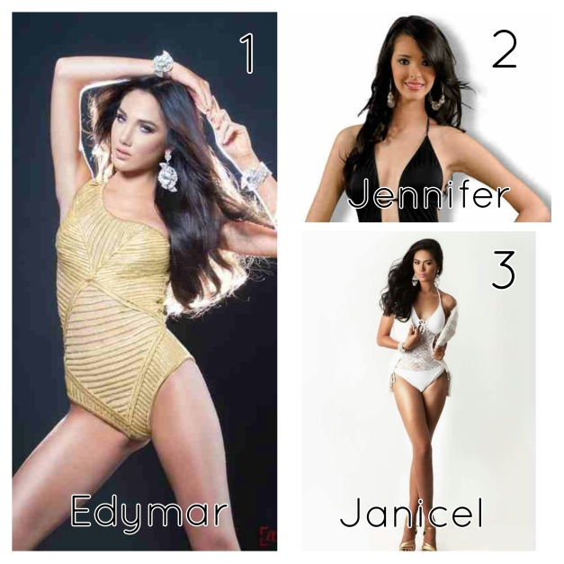 My Top 3 for Miss International 2015