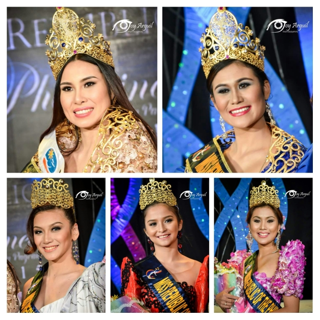 The winning ladies with their gold crowns as Miss Republic of the Philippines 2015 victors (Photo credit: Joy Arguil)
