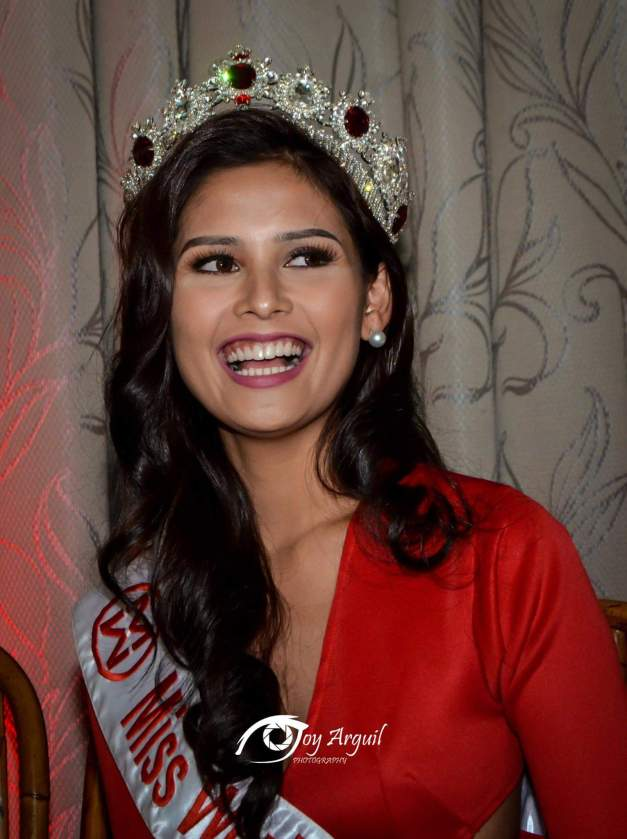 Miss World Philippines 2015 Hillarie Danielle Parungao during her send-off (Photo credit: Joy Arguil)
