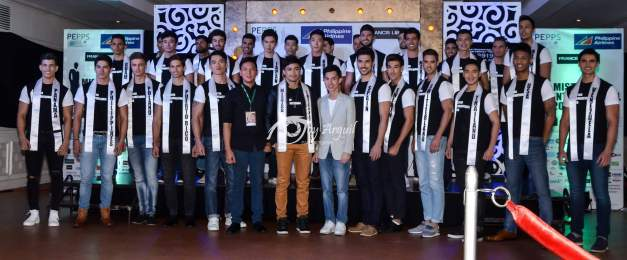 The Official Candidates of Mister International 2015 with Mister International 2014 Neil Perez, Mister International Organization Head Alan Sim and PEPPs President Carlo Morris Galang  (Photo credit: Joy Arguil)
