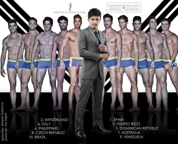Before my Final Predictions this coming Sunday, allow me to share the ten guys on my short-list for Mister International 2015 (Layout by Jerome Aquino Caducoy/Photos by Joy Arguil)