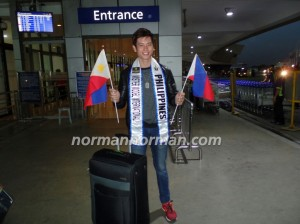 Arcel before departing for Miami early this morning