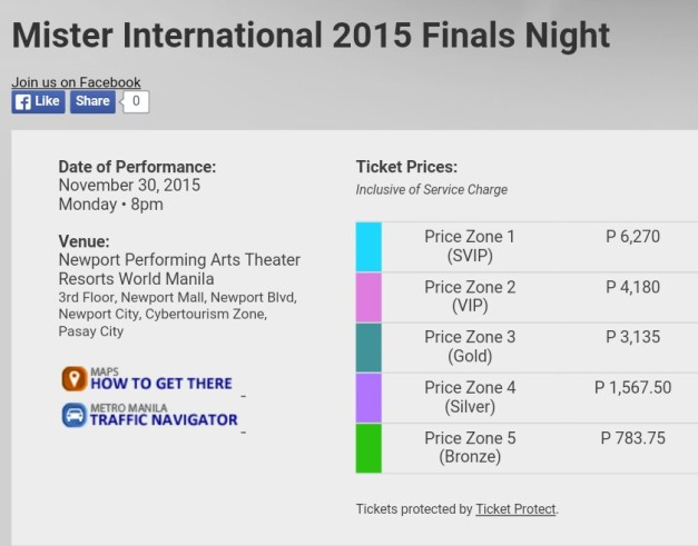 Above are the ticket prices. Click on the image to see the seat plan.