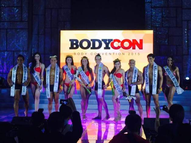 The winners of BODYCON 2015 for Gold's Gym (Photo credit: Bench Ortiz)