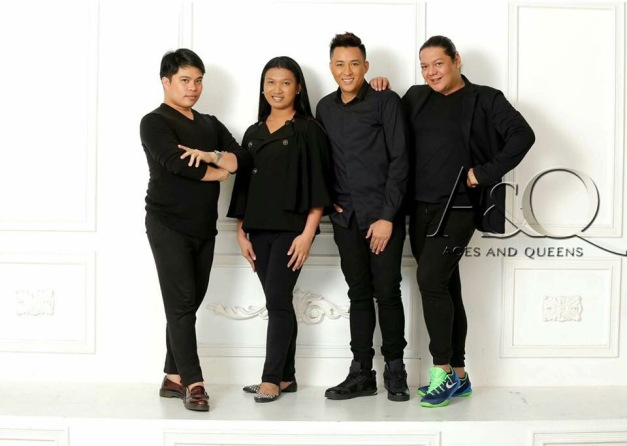The hair and makeup artists/stylists (left-to-right): Gery Penaso, Carissa Cielo Medved, Jim Ryan Ros and Raymond Galang