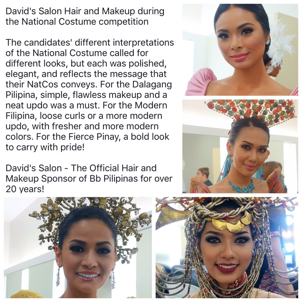 David's Salon for Bb. Pilipinas 2016 during the National Costume Competition