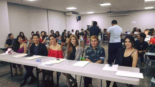 The screening panel included Christianne Ramos (in purple), Jean Tumang (in red), Jeslyn Santos (in black with gray blazer) and Anabel Tia (in black spaghetti strap). Domz Ramos of Pegarro Swim (2nd from right) was also part of the group