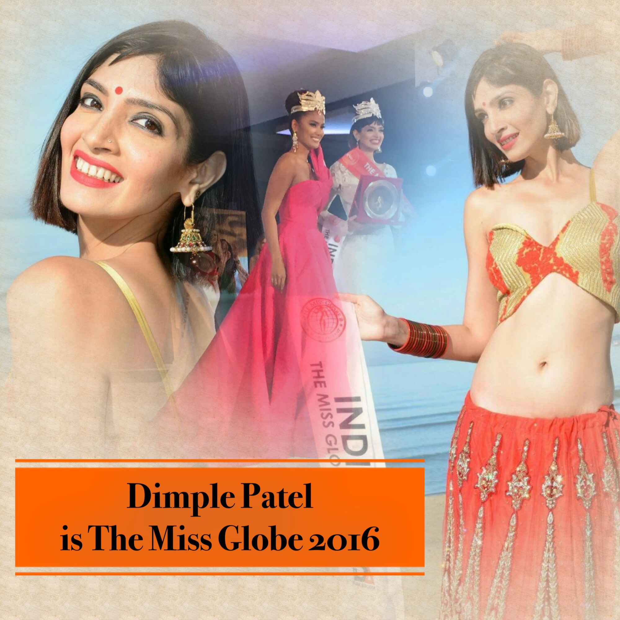 Dimple Patel of India takes The Miss Globe 2016