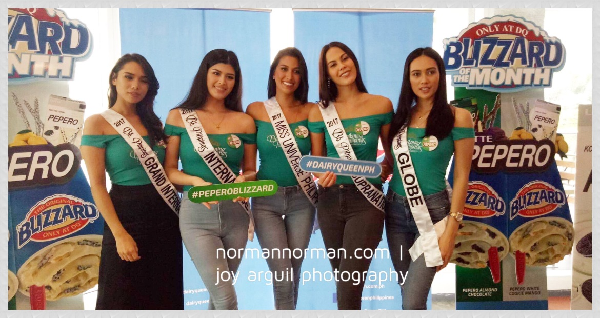 Binibining Pilipinas queens including Chanel Olive Thomas, Bb. Pilipinas Supranational 2017; Elizabeth Clenci, Bb. Pilipinas Grand International 2017; Nelda Ibe, Bb. Pilipinas Globe 2017; Katarina Rodriguez, Bb. Pilipinas Intercontinental 2017; Mariel De Leon, Bb. Pilipinas International 2017 and Rachel Peters, Miss Universe Philippines 2017